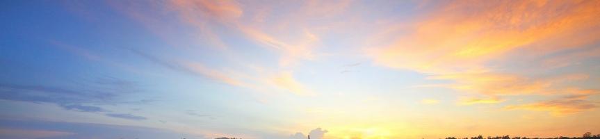 blue and orange sunrise